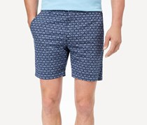 Con. Struct Men's Stretch Navy Knot-Print Shorts, Navy
