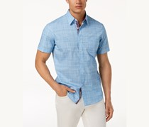 ConStruct Mens Chambray Shirt, Blue