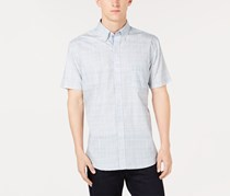 ConStruct Men's Plaid Shirt, Grey/Blue
