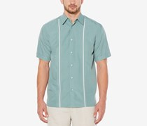 Cubavera Men's Contrast Stitch Short-Sleeve Shirt, Trellis
