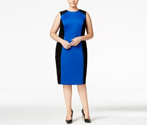Calvin Klein Women's Dress, Blue/Black