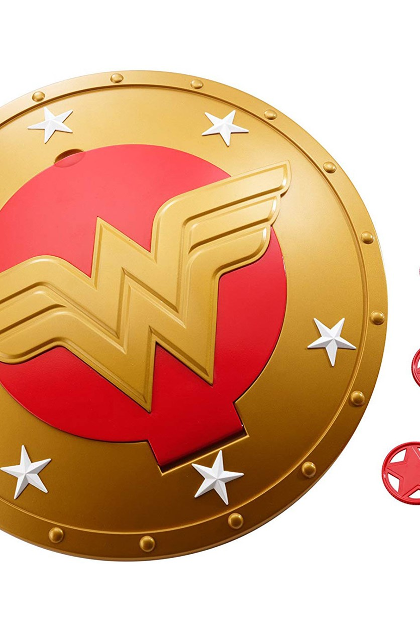 DC Super Hero Girls Wonder Woman Shield, Yellow/Red