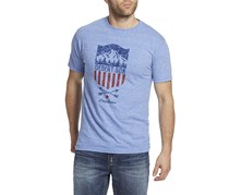 Flag & Anthem Desert Son Men's Mountain Shield Tee, Blue