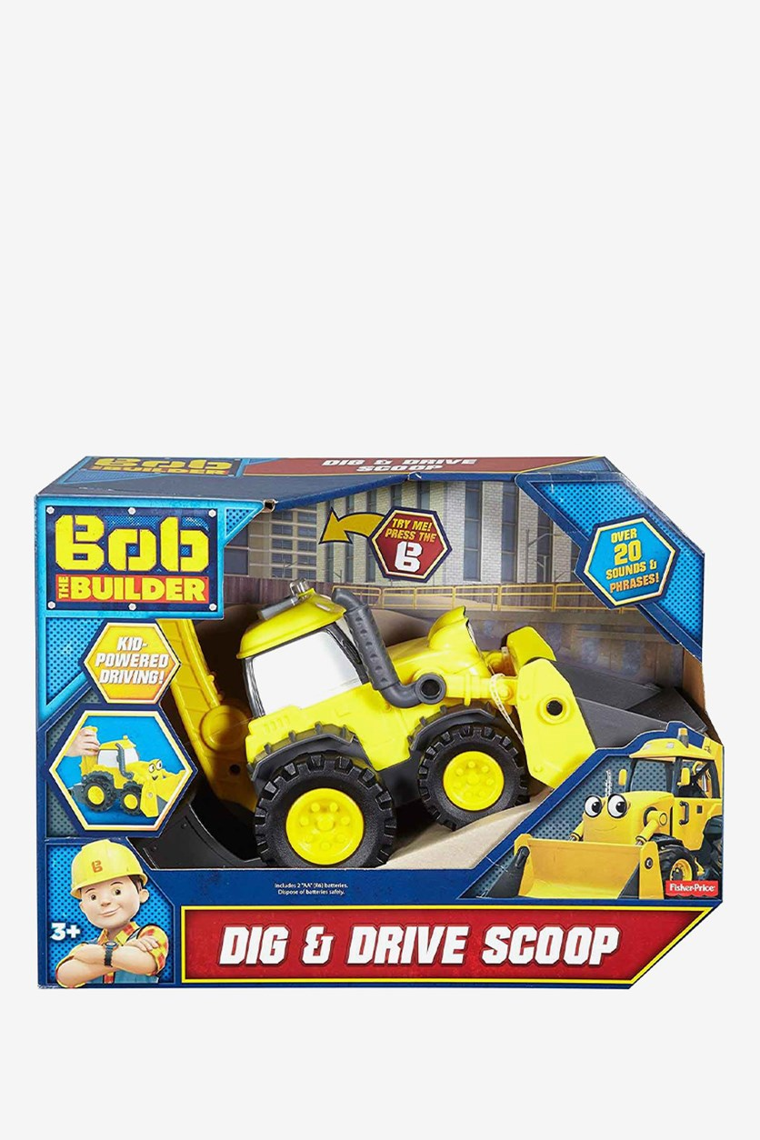 Fisher-Price Bob the Builder Dig & Drive Scoop, Yellow