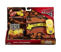 Disney Cars Crazy 8 Crashers Taco and Cruz Ramirez Vehicle, Yellow