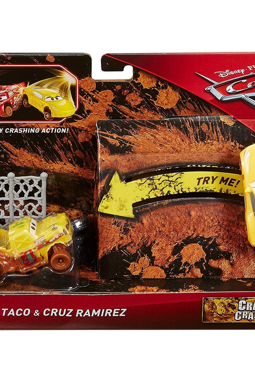 Cars Crazy 8 Crashers Taco and Cruz Ramirez Vehicle, Yellow