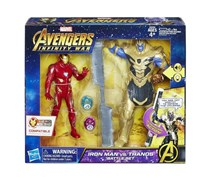 Hasbro Avengers Iron Man Vs Thanos Battle Set, Red/Gold