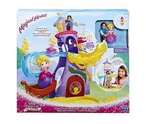 Disney Princess Twirling Tower Adventures Magical Movers, Violet/Yellow/Pink