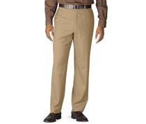 Ralph Lauren Men's Flat Front Total Comfort Dress Pants, Tan