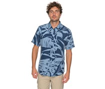Quiksilver Waterman Wake Palm Frond Technical Shirt, Blue