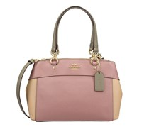 Colorblock Mini Brooke Carryall Satchel Bag, Dusty Rose