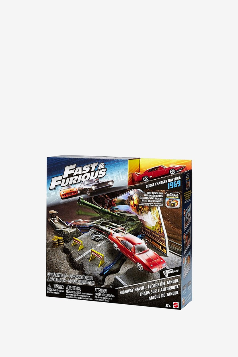 Fast & Furious 6 Highway Havoc Dodge Charger Daytona 1969 Vehicle, Red