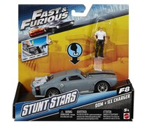 Mattel Fast & Furious 8 Stunt Stars Dominic Figure & Ice Charger Vehicle, Grey