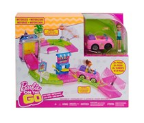 Mattel Barbie On The Go Car Wash Playset, Pink Combo