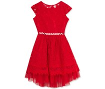 Rare Editions Lace Dress, Red