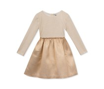 Rare Editions Baby Girl's Long Sleeved Party Dress, Ivory