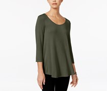 Hippie Rose Women's High-Low Swing Top, Olive
