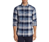 Flag & Anthem Plaid Regular Fit Flannel Shirt, Blue Combo