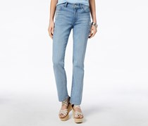 Tommy Hilfiger Embroidered Straight-Leg Jeans, Rain Wash