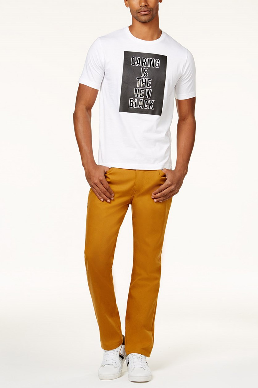 Mens Gold-Tone Pants, Inca Gold