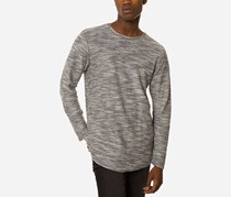 Jaywalker Mens Curved-Hem T-Shirt, Grey