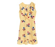 Monteau Striped Floral-Print Dress, Yellow Combo