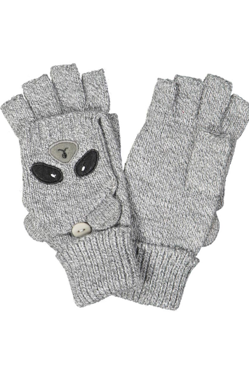 Women's Heathered Gloves, Grey