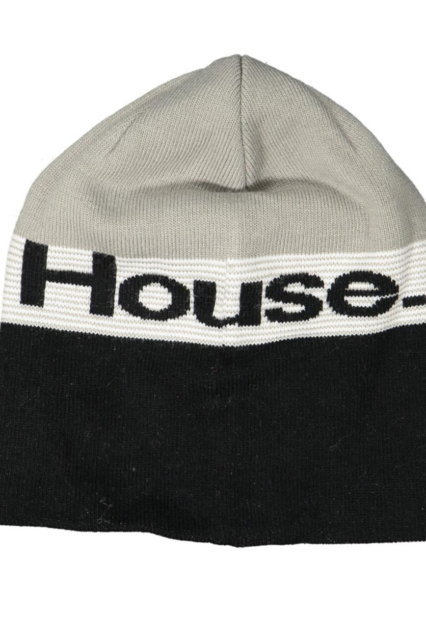 Design Men's Colorblock Beanie, Grey/Black
