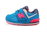 New Balance Baby's 574 Sneakers, Turq/Pink