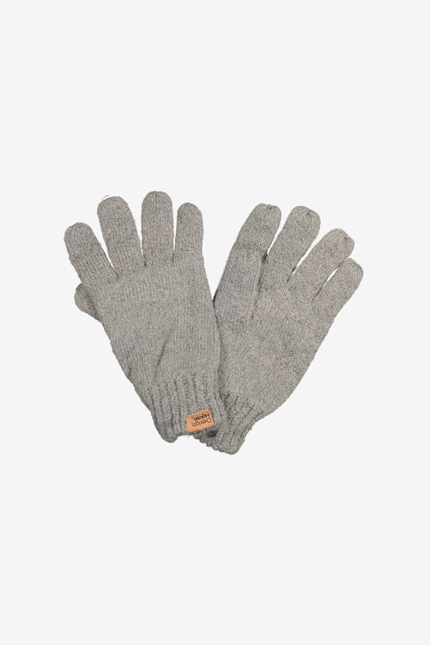 Men's Plain Gloves, Grey