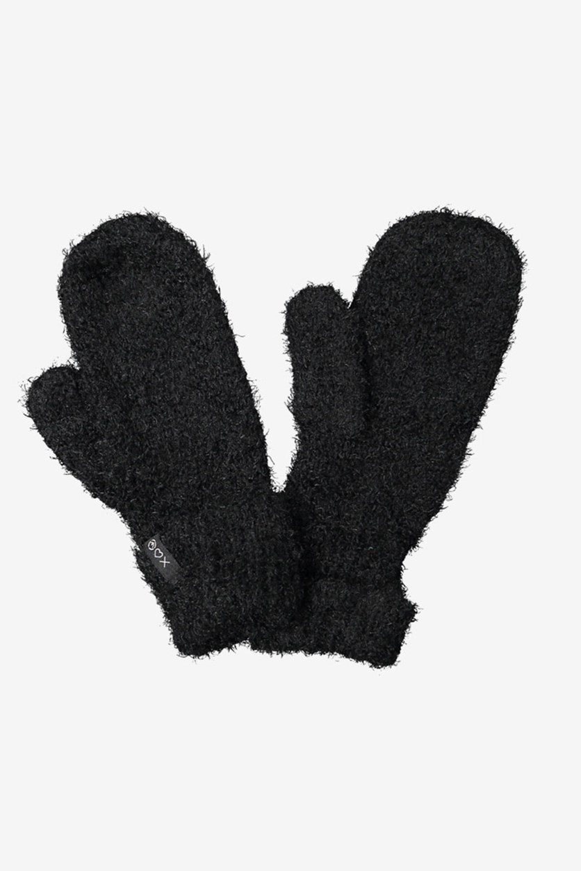 Women's Textured Gloves, Black