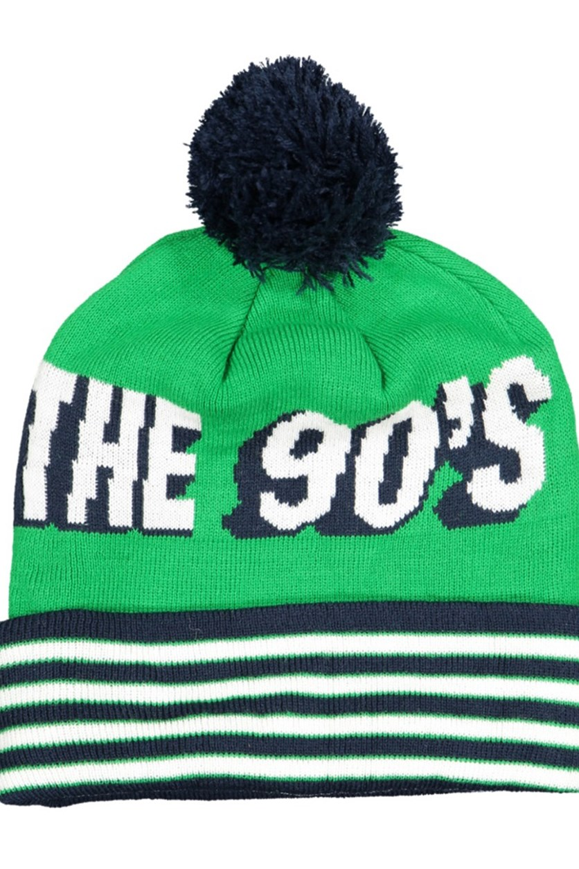 Men's Born In The 90's Beanie, Green/Navy