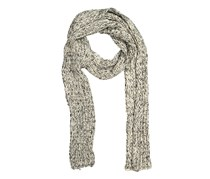 Chillin Ladies Rib-Knit Muffler, Ivory/Black Combo