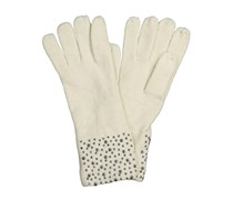 Chillin Ladies Knitted with Stud Gloves, Ivory