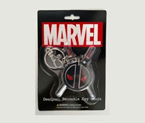 Marvel NJ Croce Deadpool Logo Key Chain, Black
