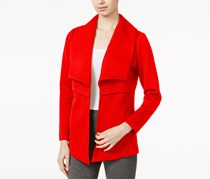 kensie Women's Quilted Jersey Jacket, Red