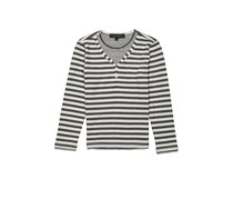 SMASH Kids Boys Striped Longsleeve Tee, Charcoal/Ivory
