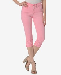 NYDJ Marilyn Cropped Tummy-Control Pants, Pink