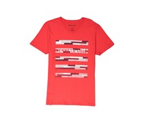 Kenneth Cole Mens Short-sleeve Block Party Tee, Red