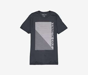 Kenneth Cole Men's Optic Logo Graphic Tee, Black