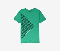 Kenneth Cole Mens Polyside Logo Graphic Tee, Clover/Green