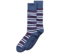 Alfani Men's Striped Socks, Purple/Navy