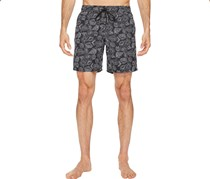 Mr. Swim Men's Leafy Floral Swim Shorts, Black