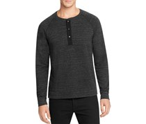 Splendid Mills Men's Long Sleeve Crew Neck Shirt, Black