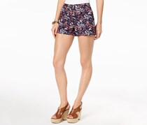 Michael Kors Floral-Print Shorts, True Navy/Bright Blush