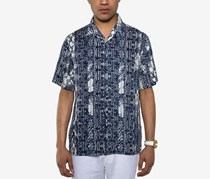 Sean John Men's Resort Shirt, Blue Combo