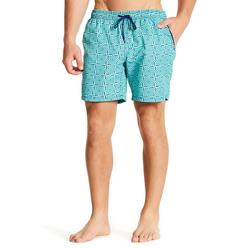 27f1e1bb93 Mr. Swim Men's Dizzeness Swimwear Shorts, Aqua