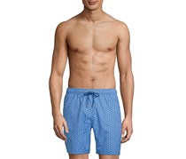 Mr.Swim Men's Geometric Print Swimwear Trunks, Blue