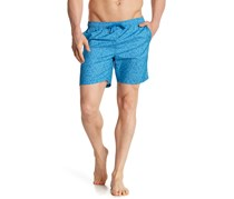 Mr.Swim Men's Angled Swimwear Trunks, Blue