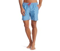 Mr. Swim Men's Cross Hatch Swim Shorts, Red/Blue